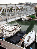 Canal de Paris Imagem de Stock