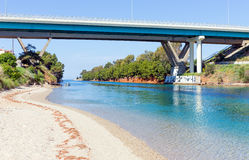 Canal de Potidea, Halkidiki, Grécia Fotografia de Stock Royalty Free