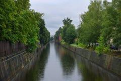 Canal de puente de KRONSTADT Imagen de archivo