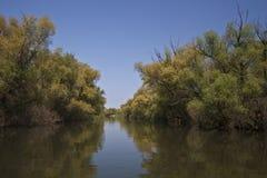 Canal de río Foto de archivo