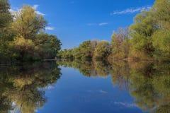 Canal de río Fotografía de archivo libre de regalías