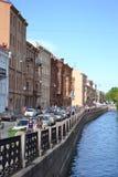Canal de río en St Petersburg Imágenes de archivo libres de regalías