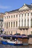 Canal de río en St Petersburg Foto de archivo