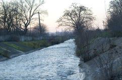 Canal de rio Fotos de Stock