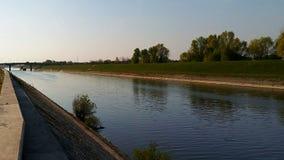 Canal de rio Fotografia de Stock