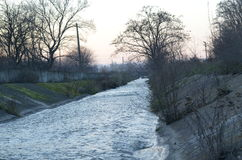 Canal de rivière Photos stock