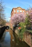 Canal de Rochdale pelo Canal Street em Manchester Fotografia de Stock Royalty Free