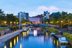 Canal de Ruoholahti à Helsinki, Finlande Images libres de droits
