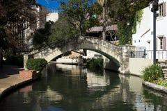 Canal de San Antonio, TX Imagen de archivo