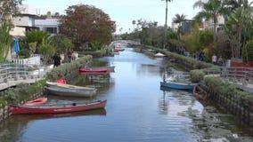 Canal de Veneza, Califórnia durante um dia de verão