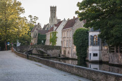 Bruges, Bruges, le canal photos stock