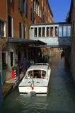 Canal del agua de Venecia Fotografía de archivo