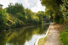 Canal del agua en Birmingham Imágenes de archivo libres de regalías