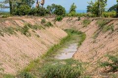 Canal del drenaje Imagen de archivo libre de regalías