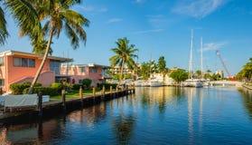Canal del Fort Lauderdale Imagenes de archivo