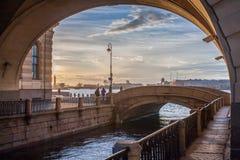 Canal del invierno Foto de archivo