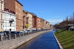 Canal del Ministerio de marina en St Petersburg Imágenes de archivo libres de regalías