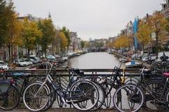 Canal del ` s de Amsterdam Imagen de archivo libre de regalías