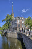 Canal in Delft Royalty Free Stock Photos