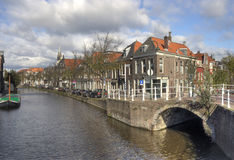 Canal in Delft, Holland Stock Photography