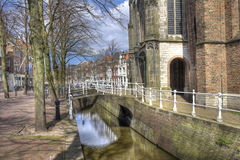 Canal in Delft, Holland Royalty Free Stock Image