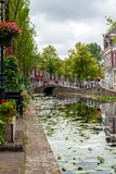 Canal in Delft Royalty Free Stock Images