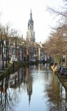 Canal in Delft. The Netherlands Stock Image