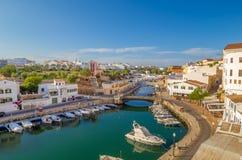 Canal des Horts at Ciutadella de Menorca. View on Canal des Horts at the old town of Ciutadella de Menorca, Spain Royalty Free Stock Photos