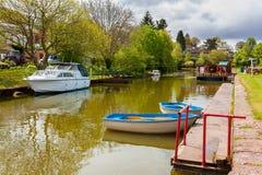 Canal Devon de Tiverton fotografía de archivo
