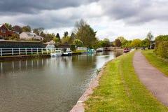 Canal Devon de Tiverton fotos de archivo libres de regalías