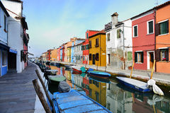 Burano city Stock Photography