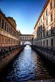 Canal do inverno de St Petersburg imagem de stock royalty free