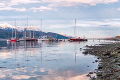 Canal do lebreiro Extremidade do mundo, Tierra del Fuego Imagens de Stock Royalty Free