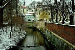 Canal do ` s do diabo de Praga, República Checa Foto de Stock