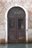 Canal doorway, Venice Royalty Free Stock Photography