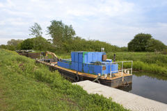 Canal dredger Stock Image