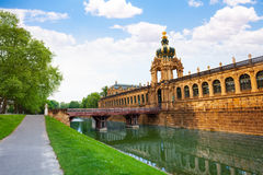 Canal and Dresden art gallery buildings Royalty Free Stock Photo