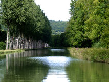 Canal du Bourgogne in France Royalty Free Stock Images
