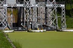 Canal du Centre - Strepy-Bracquegnies Image libre de droits