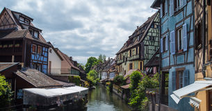 Canal du Logelbach in Colmar Stock Image