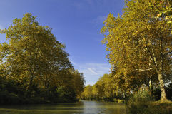 The canal du Midi Stock Photography