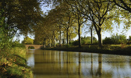 The canal du Midi Royalty Free Stock Photos