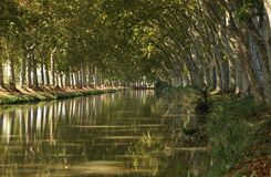 Canal du Midi. Near Beziers, southern France Royalty Free Stock Photos