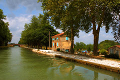 Canal du Midi. View of Canal du Midi in France Royalty Free Stock Photography