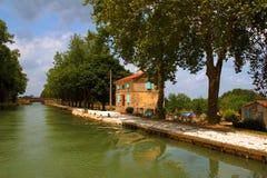 Canal du Midi Fotografía de archivo libre de regalías