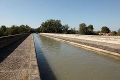 Canal du MIdi at Beziers, France Royalty Free Stock Photos