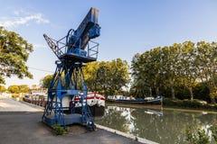 Canal du Midi Beziers, Frankrike Fotografering för Bildbyråer