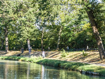 Canal du Midi  Carcassonne Royalty Free Stock Photos