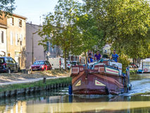 Canal du Midi  Carcassonne Royalty Free Stock Photo