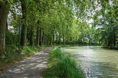 Canal du Midi in Castelnaudary, France Royalty Free Stock Photos